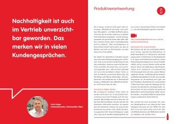 Update 2012: Produktverantwortung (PDF, 223 KB) - Coca-Cola ...