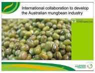 International collaboration to develop the Australian mungbean ...