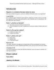 Introducción Dinero radical Jesús y el dinero - PazConDios