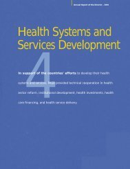 Health Systems and Services Development - PAHO Publications ...