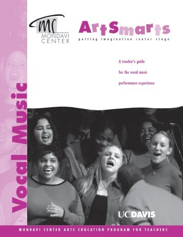 Vocal music mondavi center uc davis