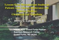 Lessons from Micronutrient Studies in Patients with Glucose ...