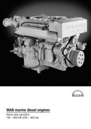 MAN marine diesel engines