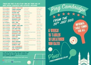 Ping! leaflet [PDF, 1.7MB] - Cambridge City Council