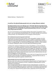 Neubau Spital Limmattal du 07.12.12 - Losinger