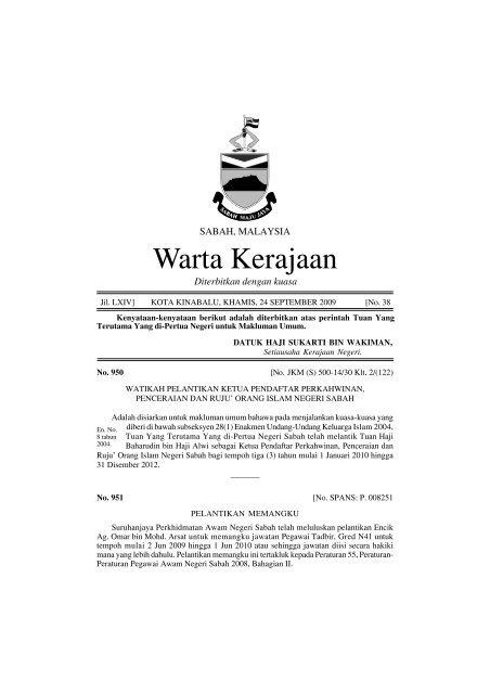 Warta Kerajaan Sabah