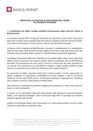 SINTESI DELLA STRATEGIA DI ESECUZIONE ... - Banca Finnat
