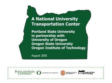 The Problem - Center for Transportation Studies - Portland State ...