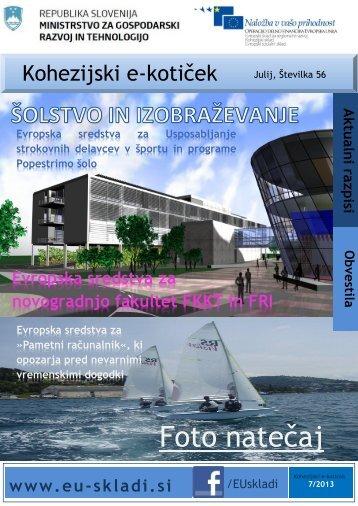 julijska številka Kohezijskega e-kotička - Ministrstvo za gospodarski ...