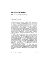 Overview of the Festschrift - the Centre for the Study of Living ...