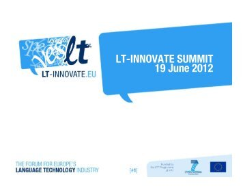 LT-INNOVATE SUMMIT 19 June 2012