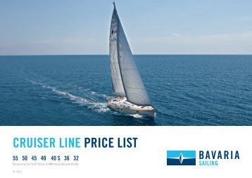 CRUISER LINE PRICE LIST
