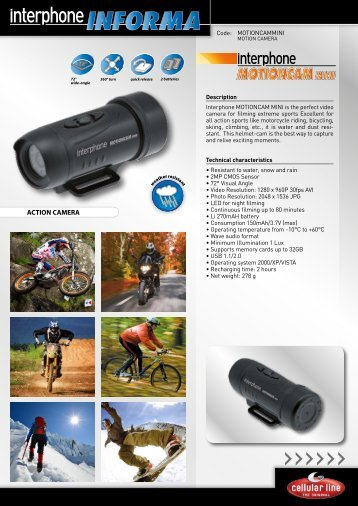 Page 1 >>>>>> ACTION CAMERA 72° wide-angle 2 batteries quick ...