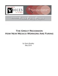 The Great Recession How New Mexico Workers Are Faring