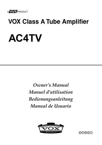 ac4tv8 owner s manual the vox showroom rh yumpu com vox ac4 blue manual vox ac4 blue manual