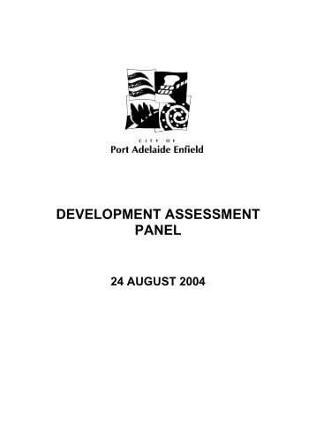 24 August 2004 DAP Report - City of Port Adelaide Enfield