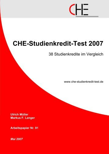CHE-Studienkredit-Test 2007 - WSV Samerberg