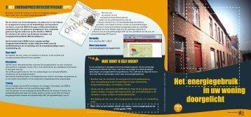 Het energiegebruik in uw woning doorgelicht - Vlaanderen