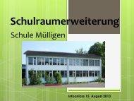 Informationsveranstaltung Schulraumerweiterung vom 15. August ...
