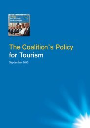 The Coalition's Policy for Tourism - Amazon Web Services