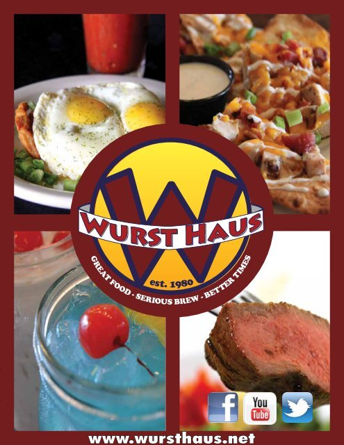 Choose any two sausages and two sides - The Wurst Haus