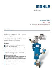 Automatic filter AF 172 G - MAHLE Industry - Filtration