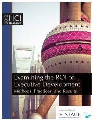 Examining the ROI of Executive Development - Vistage