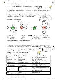 III. Saure, basische und neutrale Lösungen - LSH Marquartstein
