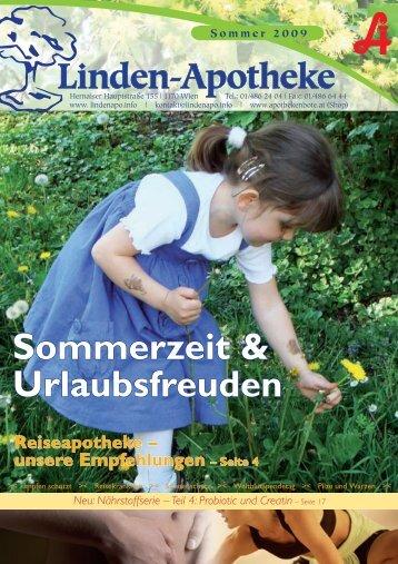 Sommerzeit & Urlaubsfreuden - Linden-Apotheke