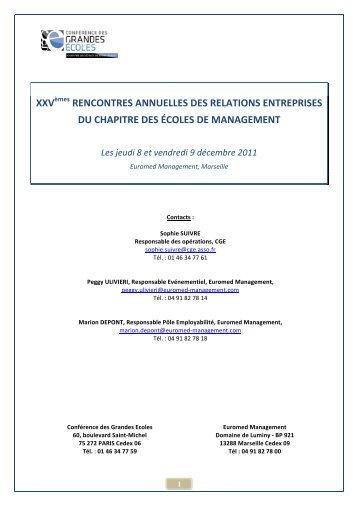 XXVèmes RENCONTRES ANNUELLES DES RELATIONS ...