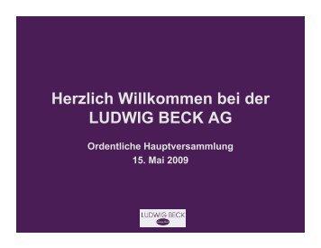 """Das """"Kaufhaus der Sinne"""" - Ludwig Beck"""