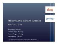 Privacy Laws in North America Webinar - Gowlings