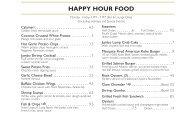 HAPPY HOUR FOOD - Select Restaurants, Inc.