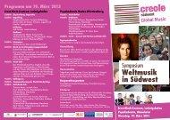 Weltmusik in Südwest - Forum der Kulturen