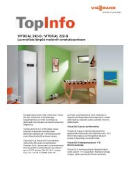 TopInfo Vitocal 222-G/242-G263 KB - Viessmann