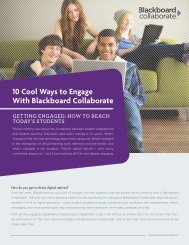 10 Cool Ways to Engage With Blackboard Collaborate