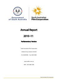 2010-11 SAFC Annual Report - South Australian Film Corporation