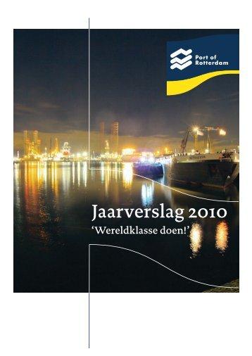 Download jaarverslag 2010 - Port of Rotterdam