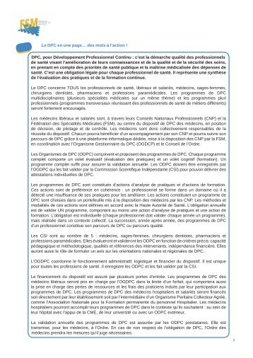 le DPC - Réseau ASDES