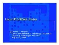 Linux NFS/RDMA Status