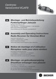 Centronic VarioControl VCJ470 - Becker Antriebe GmbH