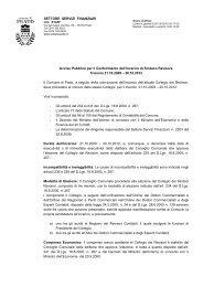 Avviso pubblico per il conferimento dell'incarico di Sindaco Revisore