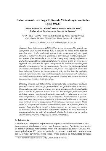 Balanceamento de Carga Utilizando Virtualizaç ˜ao ... - GTA - UFRJ
