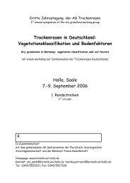 Dritte Jahrestagung der AG Trockenrasen - Fachbereich Biologie ...