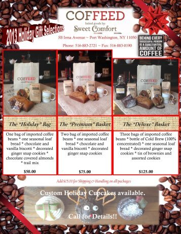2013 COFFEED Holiday Order Form FINAL - Community ...