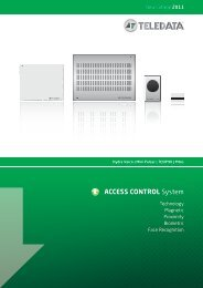 ACCESS CONTROL System - Teledata