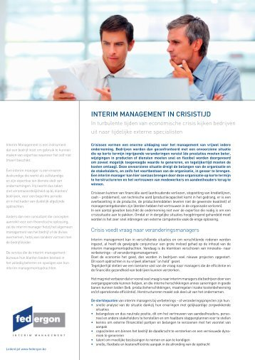 INTERIM MANAGEMENT IN CRISISTIJD - Robert Half