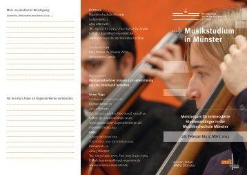 Musikstudium in Münster - Westfälische Wilhelms-Universität Münster