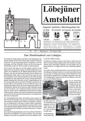 Löbejüner Amtsblatt August 2003