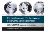 The world economy and the success of the German economic model
